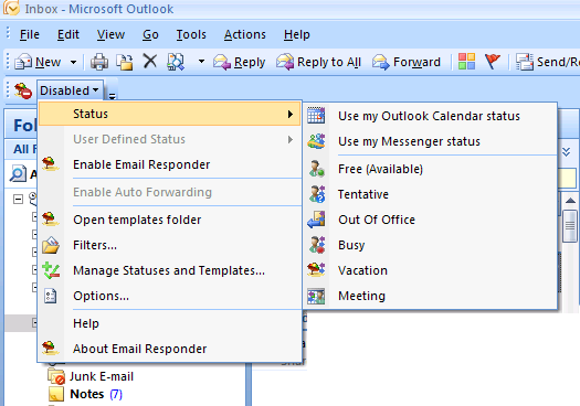 Click to view Email Responder for Microsoft Outlook 2.30 screenshot